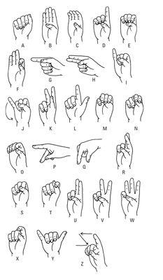 ���� - ASL: Wie das Alphabet-Zeichen