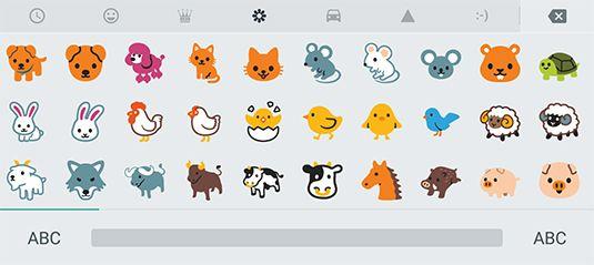 ���� - Die Wahl eines Hangout Emoji auf Ihrem Android-Tablet