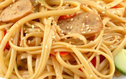 ���� - Kalte Spiced Nudeln mit Sesamöl und Gemüse
