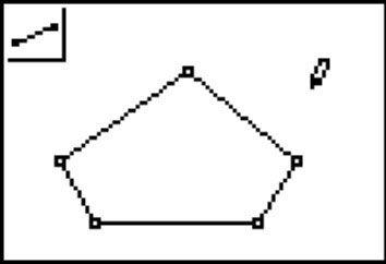 Das Segment-Tool Mit Hilfe eines Fünfecks zu konstruieren.