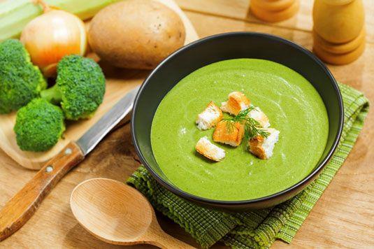 ���� - Rahmspinat italienischen Brokkoli und Pilzsuppe Rezept