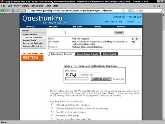 Online-Umfragen sind einfach einzurichten und kann kostengünstig sein, auch.