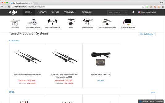Shop für Ersatz Phantom Drohne Propeller bei dji.com.