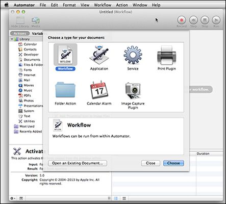 ���� - Doing Weniger von mehr mit Mac Automator tun
