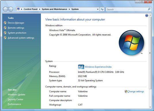 Überprüfen Sie die Systemfenster, um zu bestimmen, wie viel Speicher in Ihrem Computer.