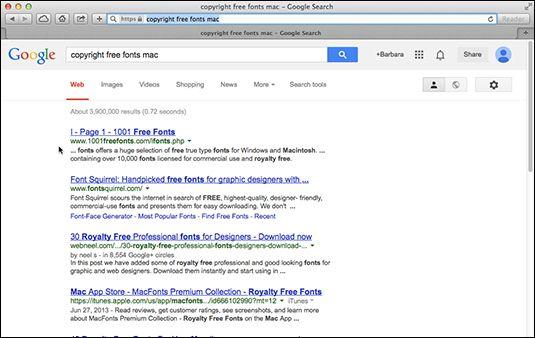 ���� - Das Finden und Hinzufügen von Fonts zu Ihrem Mac