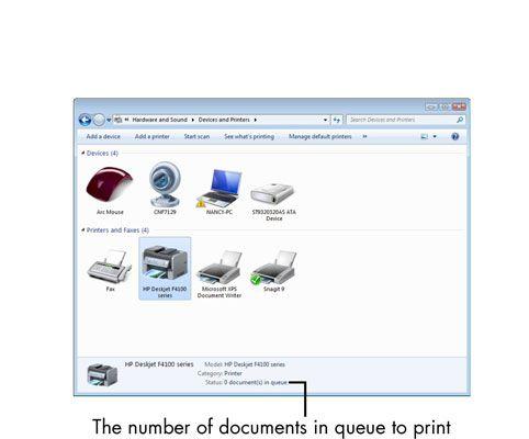 ���� - Für Senioren: Wie aktuell installierten Drucker zum Ansehen