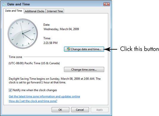 ���� - Für Senioren: Stellen Sie das Datum und Uhrzeit in Windows 7