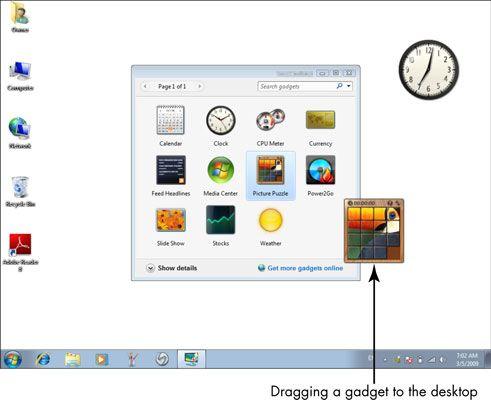 ���� - Für Senioren: Verwenden von Windows-Desktop-Gadgets