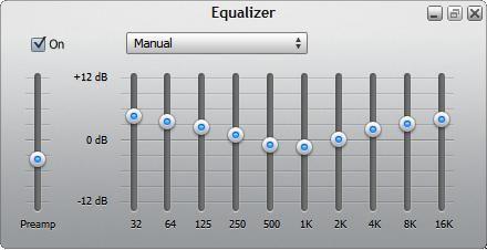 Verwenden Sie den Equalizer die Lautstärke einzelner Frequenzen einzustellen.