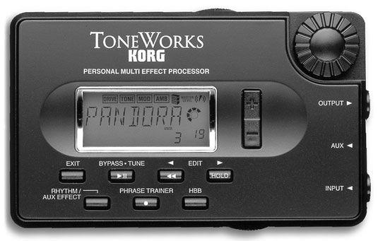 Der Korg Pandora px, 3, ein Multi-Effektprozessor, der verschiedene Arten von Verzerrung, EQ, eff Funktionen