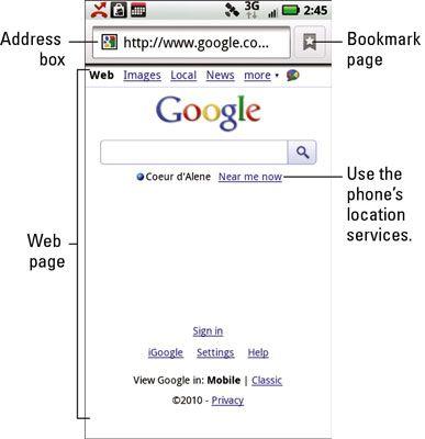 ���� - Wie das Web auf Ihre Droid X zu durchsuchen