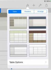 ���� - Wie eine Tabelle der Blick in iPad Zahlen zu ändern App