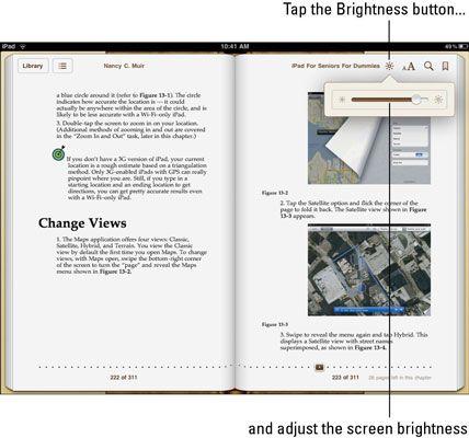 ���� - Wie wird die Helligkeit und die Schriftgröße auf dem iBook App zu ändern