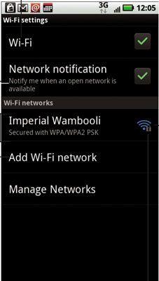 ���� - Wie mit einem Wi-Fi-Netzwerk auf Ihre Droid X zu verbinden