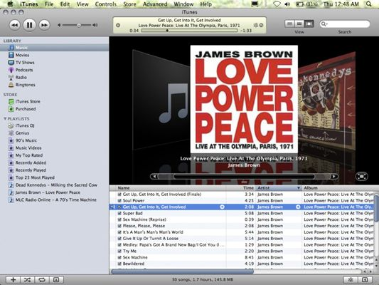 ���� - Wie iTunes in Mac OS X Snow Leopard Steuerung