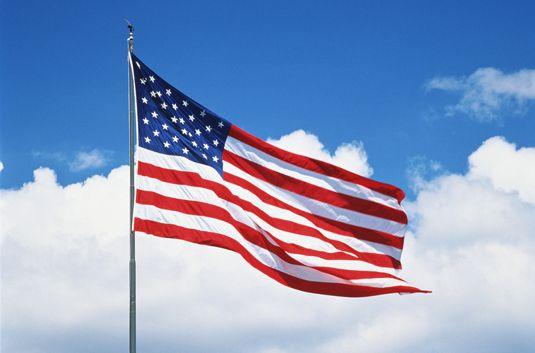 ���� - Wie Sie sich richtig Zeigen Sie die Flagge der Vereinigten Staaten von Amerika