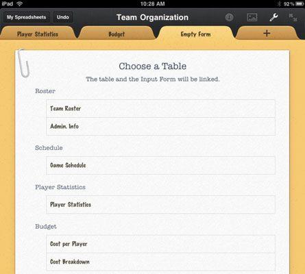 ���� - Wie ein Formular in die Zahlen App für das iPad zu erstellen