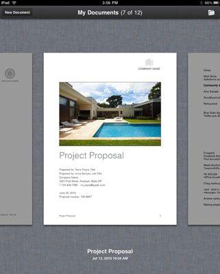 ���� - Wie man ein neues iWork-Dokument auf Ihrem iPad zu erstellen