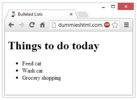 ���� - So erstellen Sie Aufzählungen in HTML5
