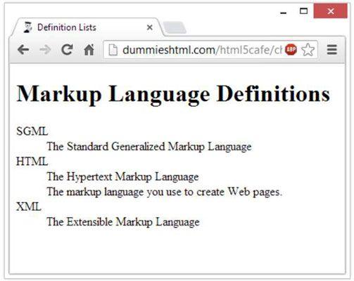 ���� - So erstellen Definitionslisten in HTML5