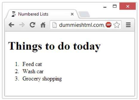 ���� - Wie man nummerierte Listen in HTML5 erstellen