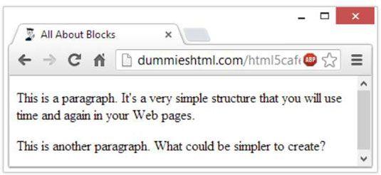 ���� - So erstellen Sie Absätze in HTML5