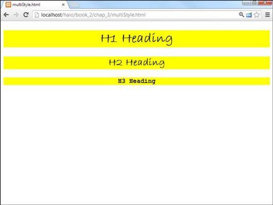 ���� - So definieren Sie Stile für mehrere Elemente für HTML5 und CSS3 Programmierung