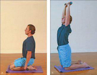 ���� - Wie wird die Yoga-mit-Gewichte Kamel Übung zu tun