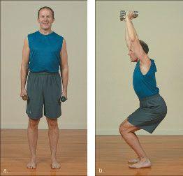 ���� - Wie wird die Yoga-mit-Gewichte Chair Übung zu tun