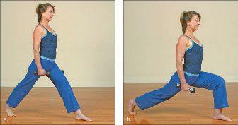 ���� - Wie wird die Yoga-mit-Gewichte Crescent Moon Übung zu tun