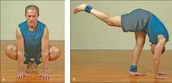 ���� - Wie wird die Yoga-mit-Gewichte Crow Übung zu tun