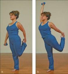 ���� - Wie wird die Yoga-mit-Gewichte Tänzer Übung zu tun