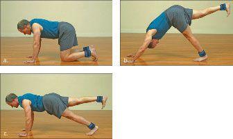 ���� - Wie wird die Yoga-mit-Gewichte Hund zu tun Übung zu Plank