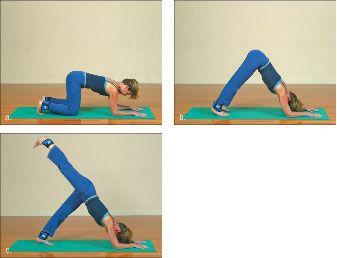 ���� - Wie wird die Yoga-mit-Gewichte Dolphin Übung zu tun