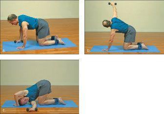 ���� - Wie wird die Yoga-mit-Gewichte Nadelöhr Übung zu tun