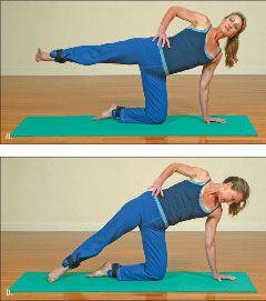 ���� - Wie wird die Yoga-mit-Gewichte Half Moon Übung zu tun