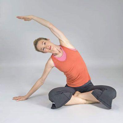 ���� - Wie kommen Sie Yoga Seitbeugen Postures