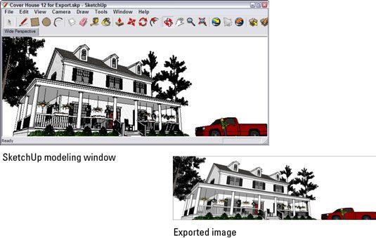 ���� - Wie man ein Raster-Bild aus Google SketchUp exportieren 8