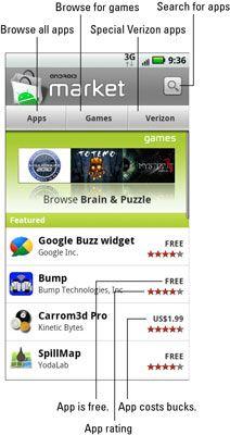 ���� - Wie Apps für Ihre Droid X aus dem Android Market zu holen