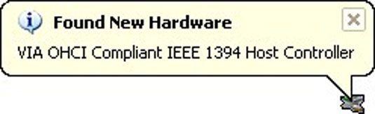 Das Gerät installiert hier ist ein IEEE-1394 (oder FireWire) Port-Erweiterungskarte.