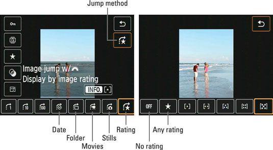 ���� - Wie zu springen durch Bilder auf dem Rebel t5i
