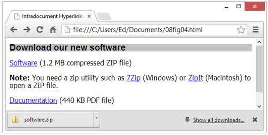 ���� - Wie man Nicht-HTML-Ressourcen zu Link mit HTML5