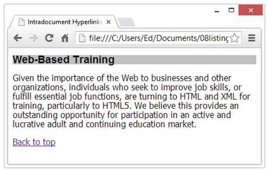 ���� - Wie innerhalb der gleichen Seite zu Link mit HTML5