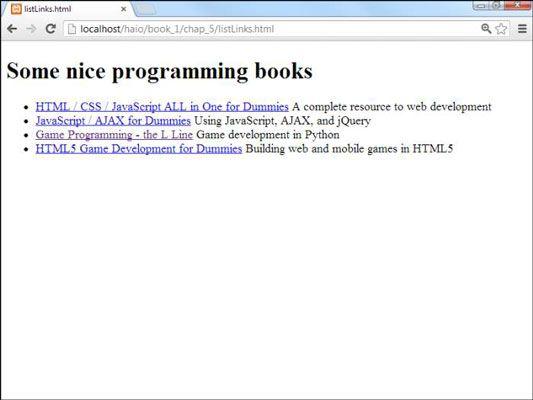 ���� - Wie Listen von Links für HTML5 und CSS3 Programmierung zu machen