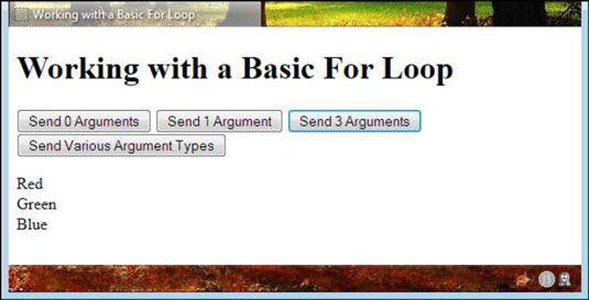���� - Wie Sie Ihr erstes javascript für Loop-Stellen