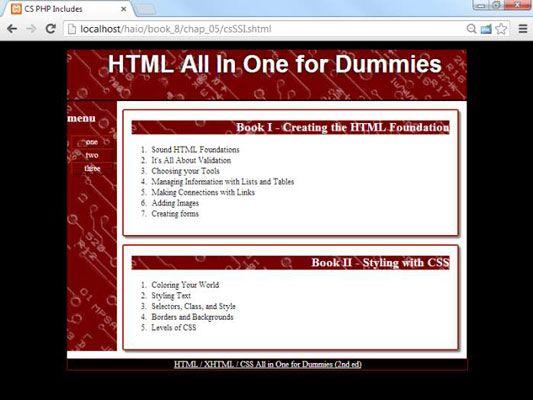 ���� - Wie HTML5 und CSS3 Inhalte verwalten mit Server Side Includes (SSIs)