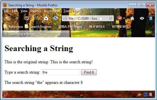 ���� - Wie man Manipulieren und Suche javascript Strings mit HTML zu programmieren