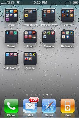 ���� - Wie zu Organisieren Sie Ihre Icons in Ordner des iPhone 4