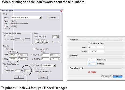���� - Wie man Skala von Google SketchUp zu drucken 8